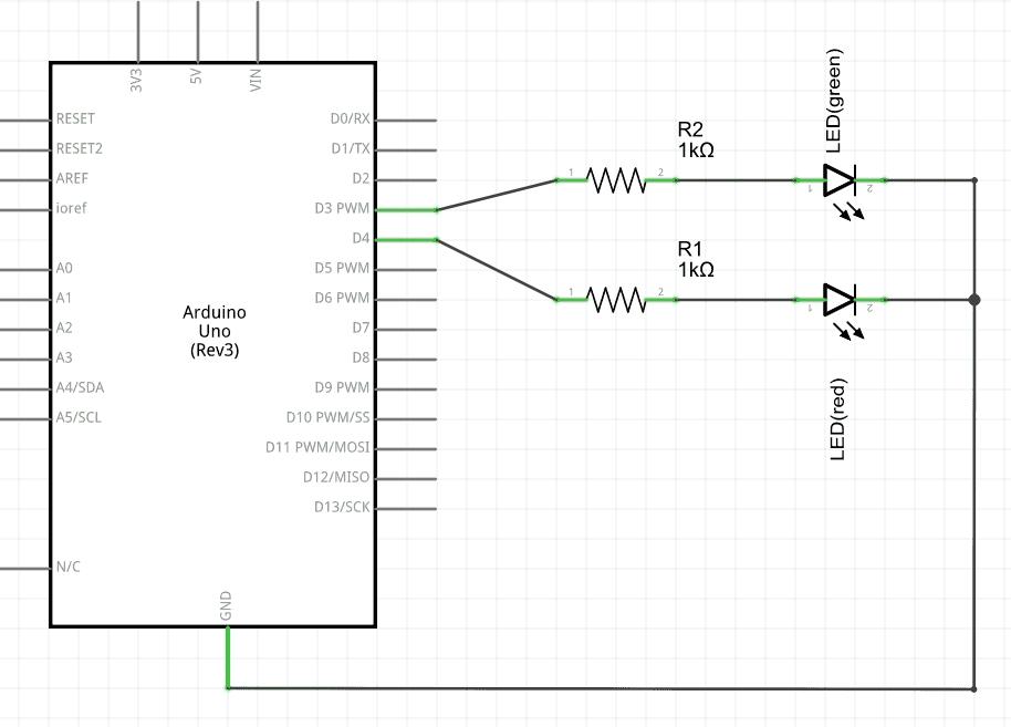 Kopplingsschema för Arduino